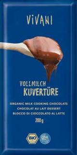 Vivani čokoláda na vaření mléčná Bio 200g