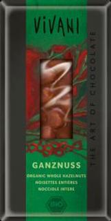 Vivani mléčná čokoláda s lískovými oříšky Bio 100 g
