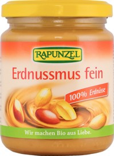 RAPUNZEL pomazánka (pasta) arašídová jemná bio 250g