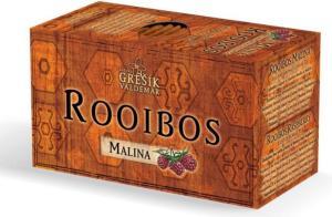 Grešík ROOIBOS malina porcovaný čaj 20 x 1,5 g