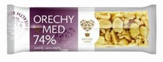 TYČINKA ořechy a med 74% 30g