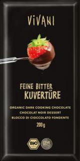 Vivani čokoláda na vaření hořká 200g Bio