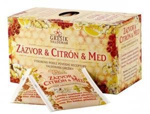 Grešík Zázvor & Citron & Med bylinný čaj 20 x 2,0 g