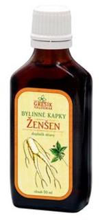 ŽENŠEN bylinné kapky 50ml Grešík