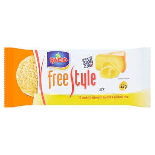Racio Free Style rýžové chlebíčky sýrové 25g