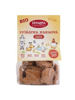 Biopekárna Zemanka Špaldová zvířátka kakaová 100g Bio