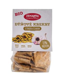 Biopekárna Zemanka Dýňové bio krekry se špaldou a česnekem 100g
