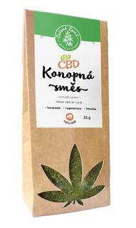 Zelená Země 1,6% CBD Konopný čaj Bio 35g