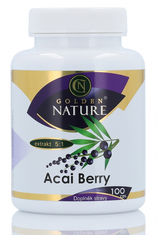 Golden Nature Acai berry 100 kapslí