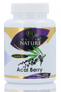 Golden Nature Acai berry 100 kapslí