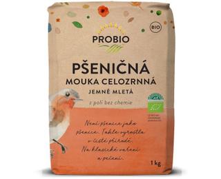 PROBIO Mouka pšeničná celozrnná jemně mletá 1kg Bio