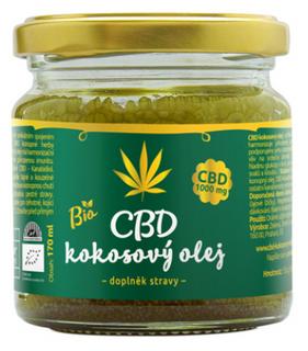 Zelená Země CBD Kokosový olej 170ml (1000mg CBD)  Bio