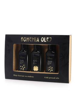 Bohemia olej Dárková kazeta hořčičný + vlašský + sezamový olej 3x100ml