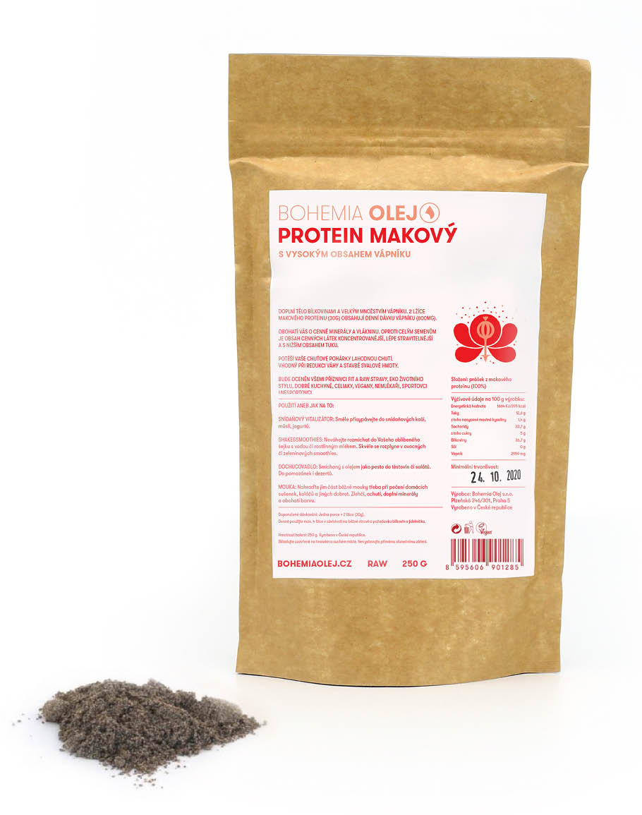 Levně Bohemia olej Proteinový prášek makový 250g