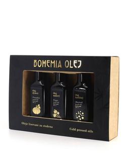 Bohemia olej Dárková kazeta hořčičný + makový + dýňový olej 3x100ml