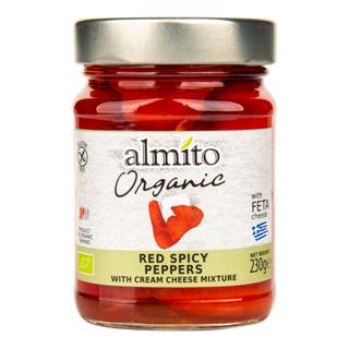 Almito Papriky červené pikantní plněné sýrem 230g Bio