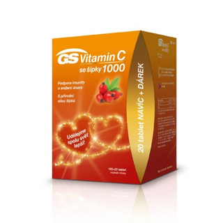 GS Vitamin C 1000 se šípky 120 tablet + DÁREK