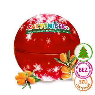 Terezia Company Rakytníček Mutivitamínové želatinky s rakytníkem Vánoční ozdoba červená 50ks