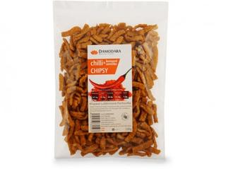 Damodara Chilli chipsy s konopným semínkem 100g