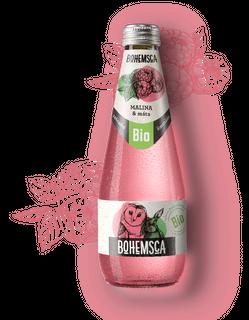 Bohemsca Limonáda Malina a máta 330ml Bio