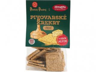 Biopekárna Zemanka Pivovarské krekry sýrové 100g