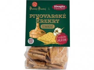 Biopekárna Zemanka Pivovarské krekry česnekové 100g