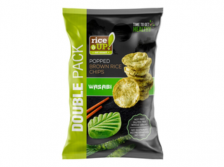 Rice Up! Chipsy z hnědé rýže s wasabi 120g