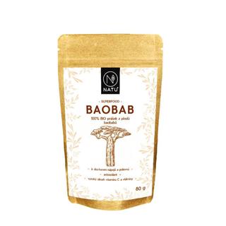 NATU Baobab prášek 80g Bio