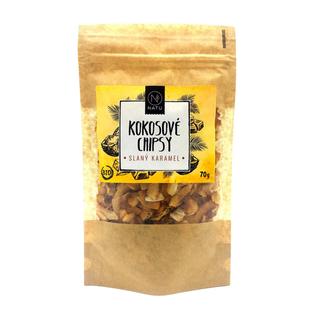 NATU Kokosové chipsy slaný karamel 70g Bio