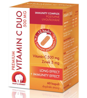 Premium Vitamín C Duo 500mg 60 kapslí
