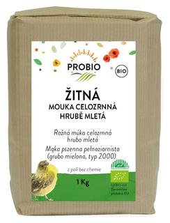 PROBIO Mouka žitná celozrnná hrubě mletá 1kg Bio