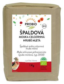 PROBIO Mouka špaldová celozrnná hrubě mletá 1kg Bio