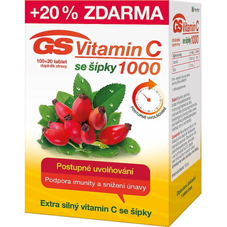 GS Vitamin C 1000 se šípky 120 tablet