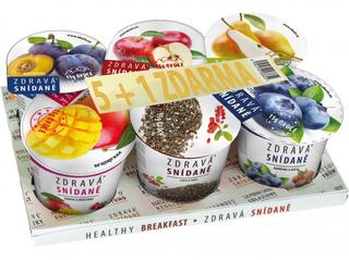 Obezin Zdravá snídaně různé příchutě 5+1 zdarma Varianta B 468g