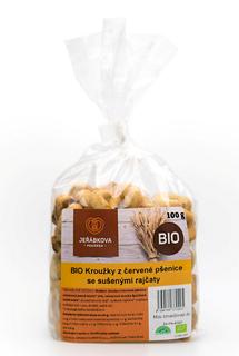 Jeřábkova pekárna Kroužky z červené pšenice se sušenými rajčaty 100g Bio