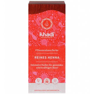 Khadi Rostlinná barva na vlasy čistá henna 100g