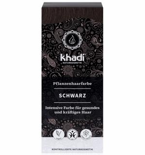 Khadi Rostlinná barva na vlasy černá 100g