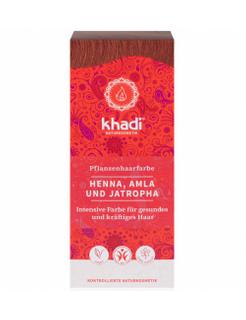 Khadi Rostlinná barva na vlasy Henna Amla Jatropha 100g