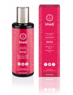 Khadi šampón Růže-reparační a hydratační 210ml