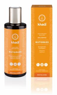 Khadi šampon Ořechová tráva na normální a mastné vlasy 210ml