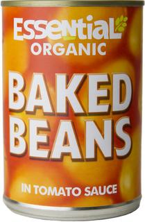 Essential Organic Fazole bílé v rajčatové omáčce 480g Bio
