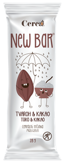 Cerea Newbar Tyčinka tvaroh a kakao 28g