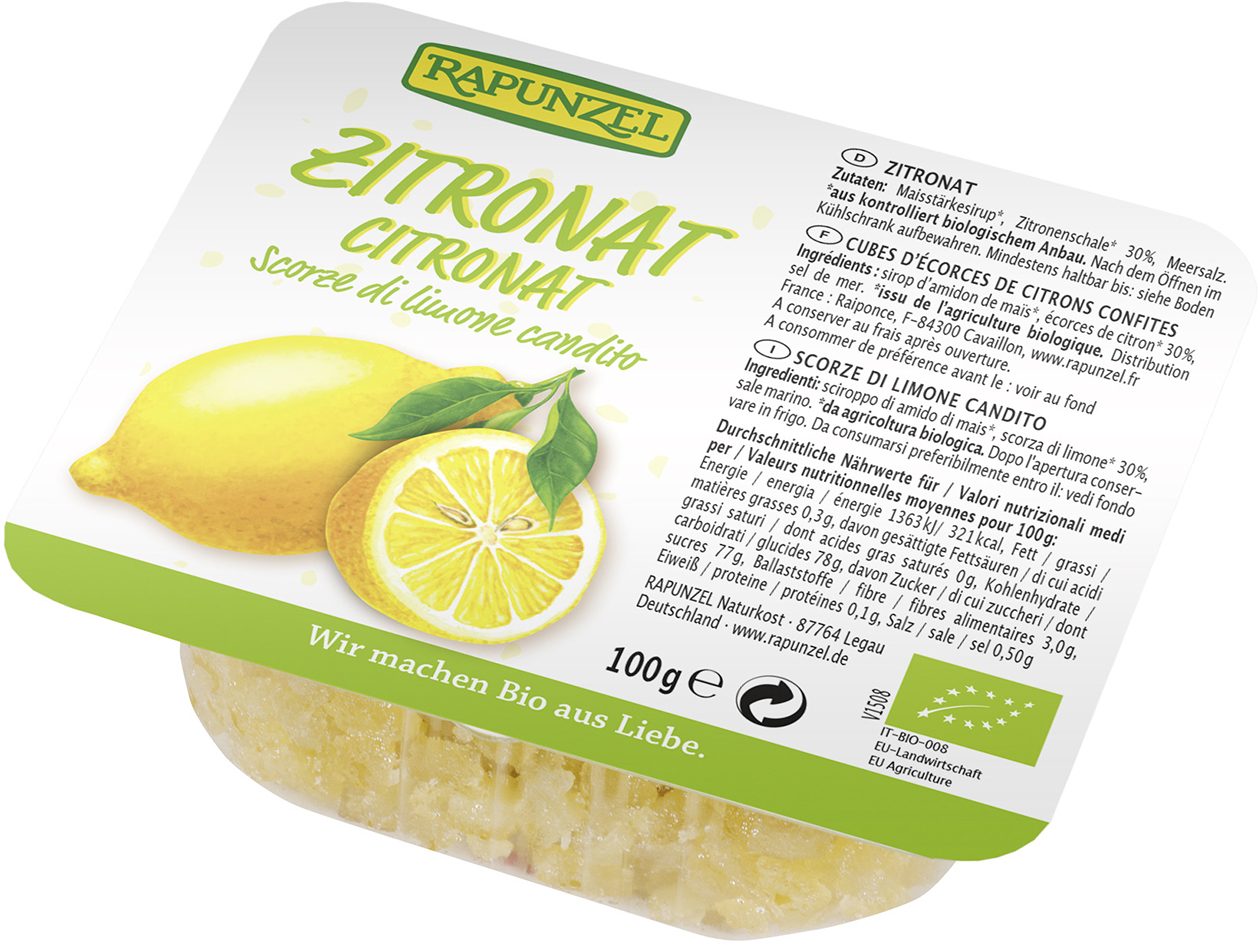 Levně Rapunzel Kandovaná citronová kůra 100g Bio
