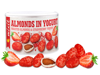 Mixit Mandle v jogurtu s jahodovým prachem 240g