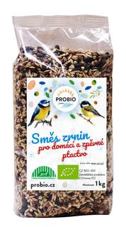 PROBIO Směs zrnin pro domácí a zpěvné ptactvo 1kg Bio