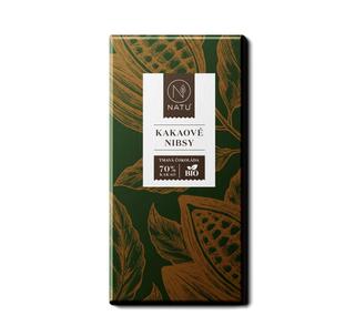NATU Hořká čokoláda kakaové nibsy 45g Bio