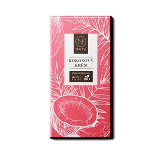 NATU Hořká čokoláda kokosový krém 45g Bio