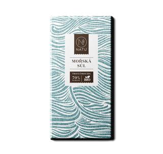 NATU Hořká čokoláda mořská sůl 45g Bio