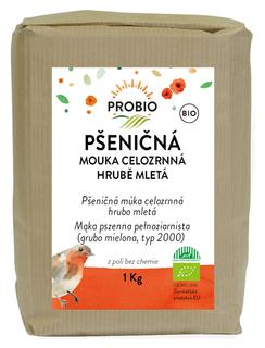 PROBIO Mouka pšeničná celozrnná hrubě mletá 1kg Bio
