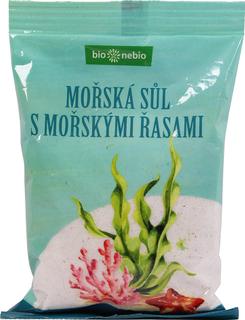 Bio Nebio Mořská sůl jodovaná mořskými řasami 500g